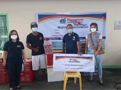 Distribution of Livelihood Kits to 13 Beneficiaries of DTI - Pangkabuhayan sa Pagbangon at Ginhawa (DTI-PPG)